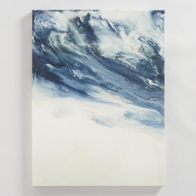 Blue Creme Encaustic by Corrie LaVelle