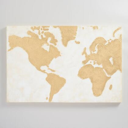 Wall art by subject modern paintings maps kitchen art world gilded world map wall art gumiabroncs Gallery