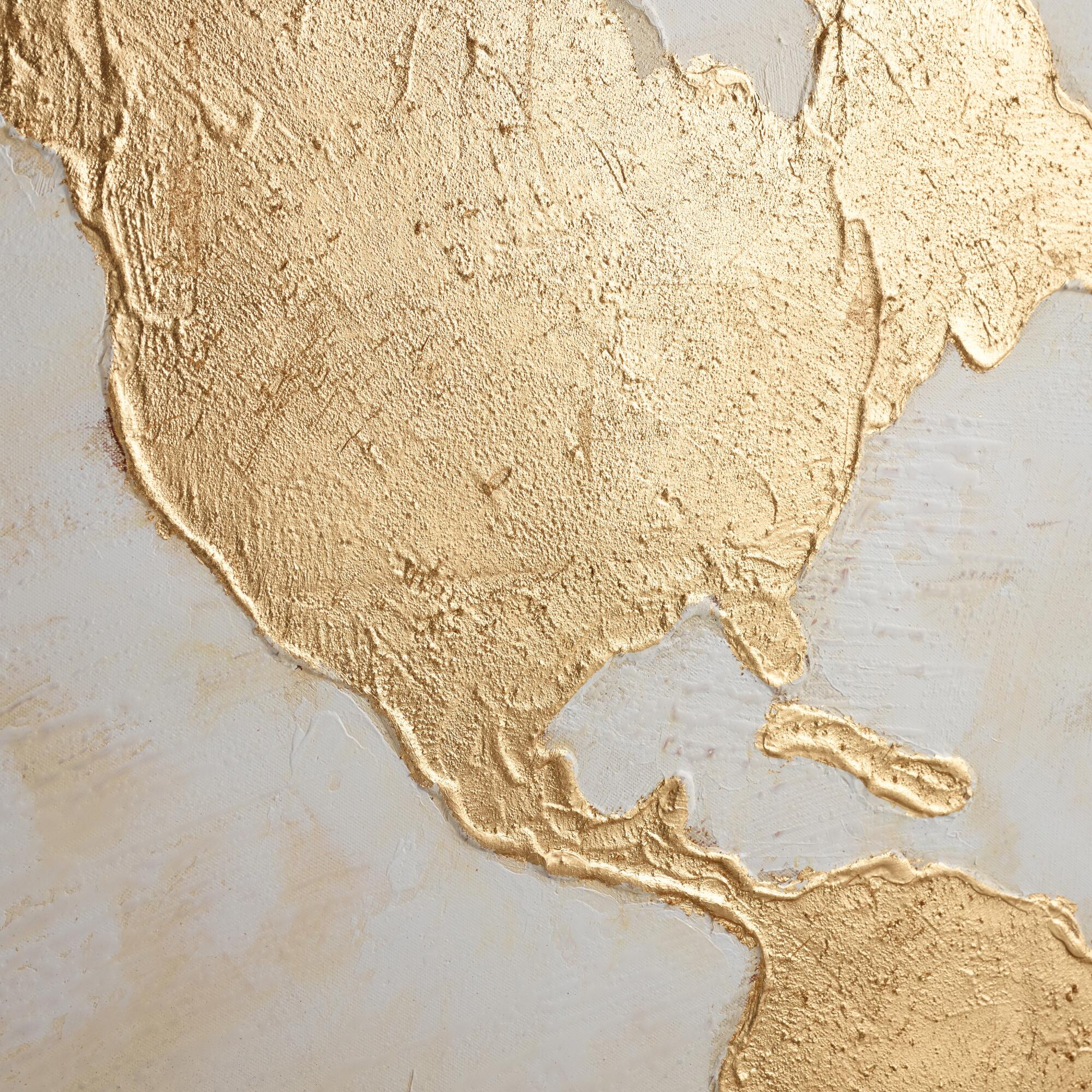 Gilded World Map Wall Art | World Market