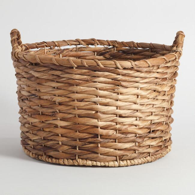 Banana Leaf Round Brooklyn Tote Basket
