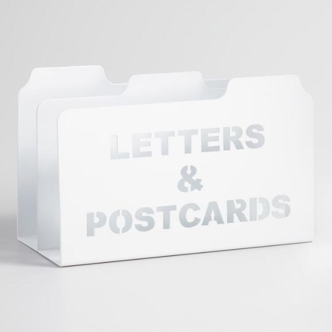 White Metal Lucas Mail Sorter