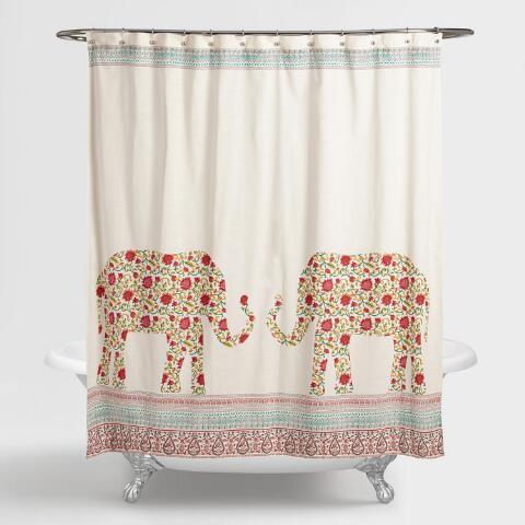 Indian Elephants Indra Shower Curtain Previous V2 V1