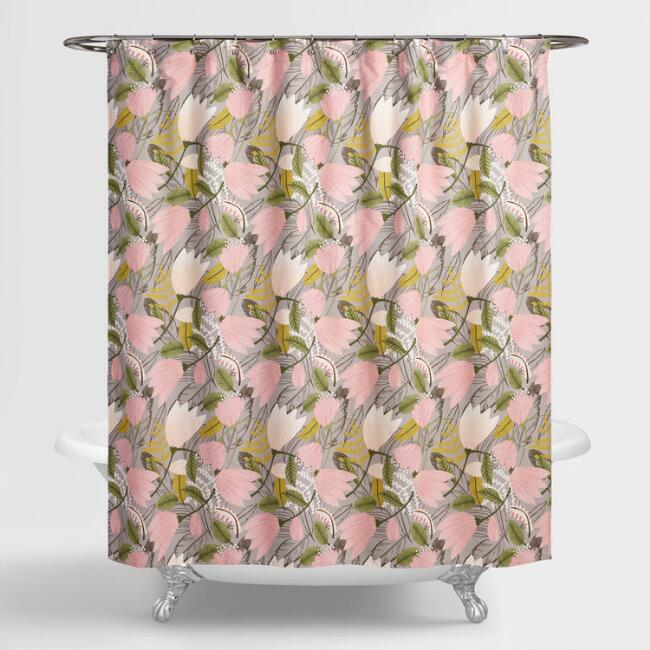 Gigi Floral Shower Curtain | World Market