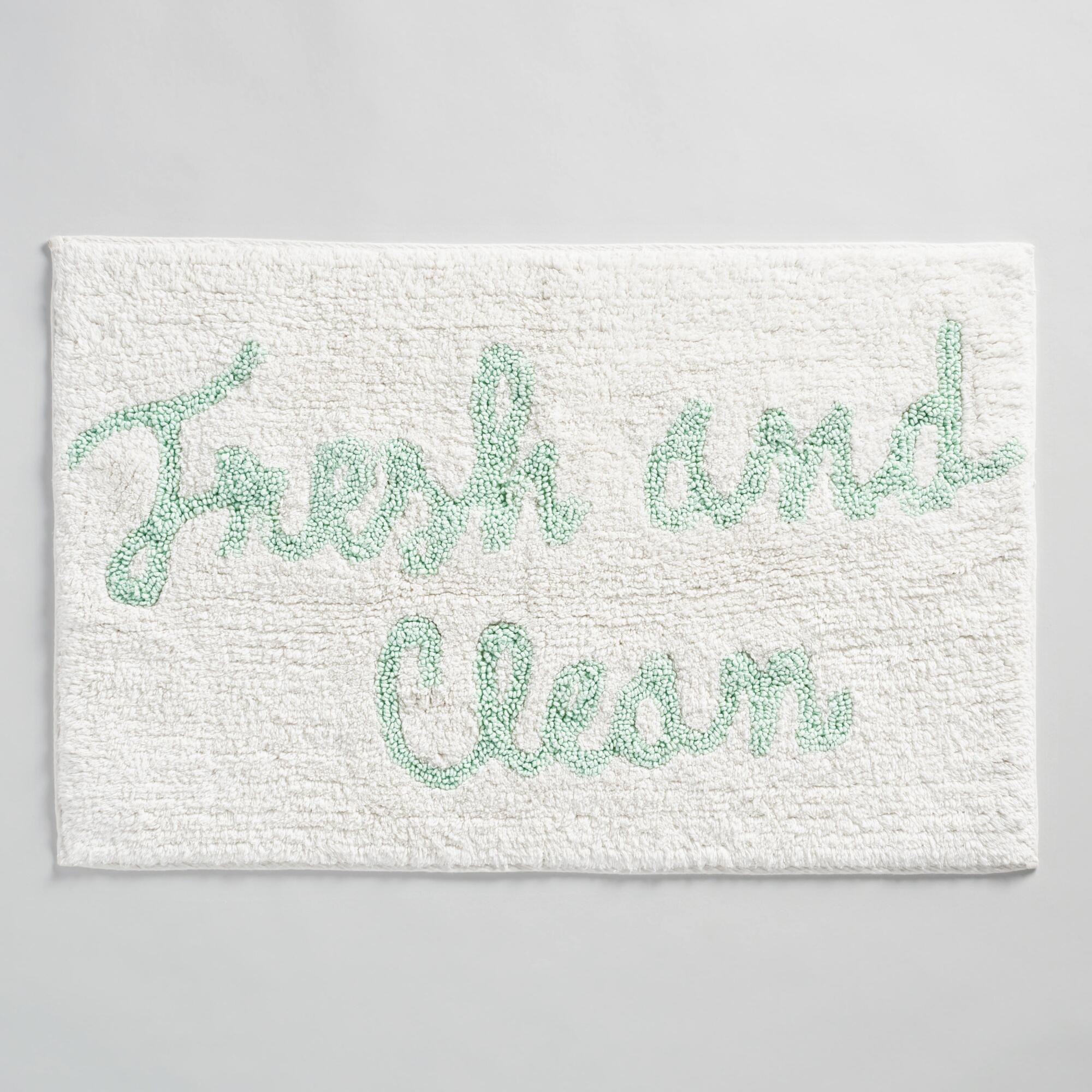 Fresh And Clean Tufted Bath Mat World Market - How to clean bathroom rugs