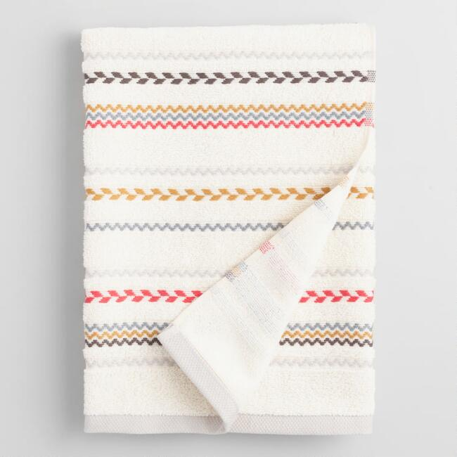 Striped Liya Bath Towel