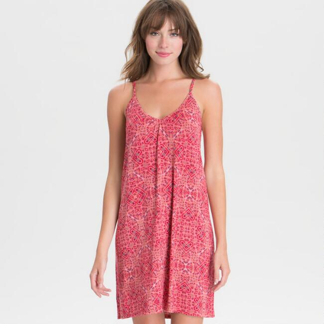 Red Mosaic Chemise