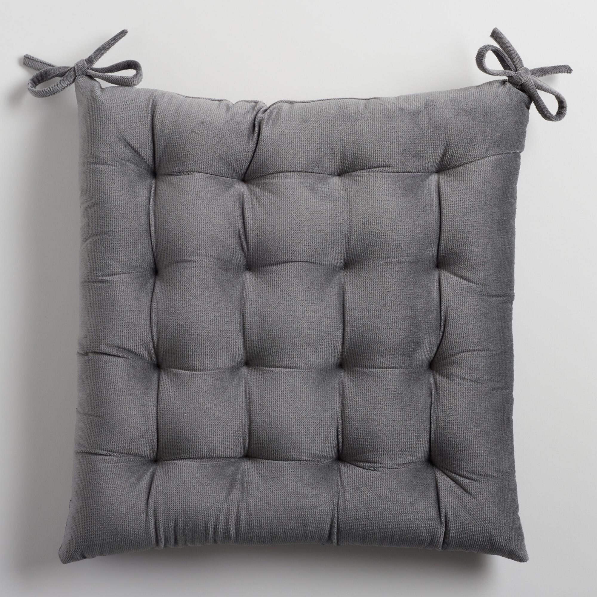 shipping pillow solid home outdoor free product squared cushion chair pillows on textured garden gray