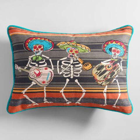 Woven Day Of The Dead Lumbar Pillow Previous V2 V1