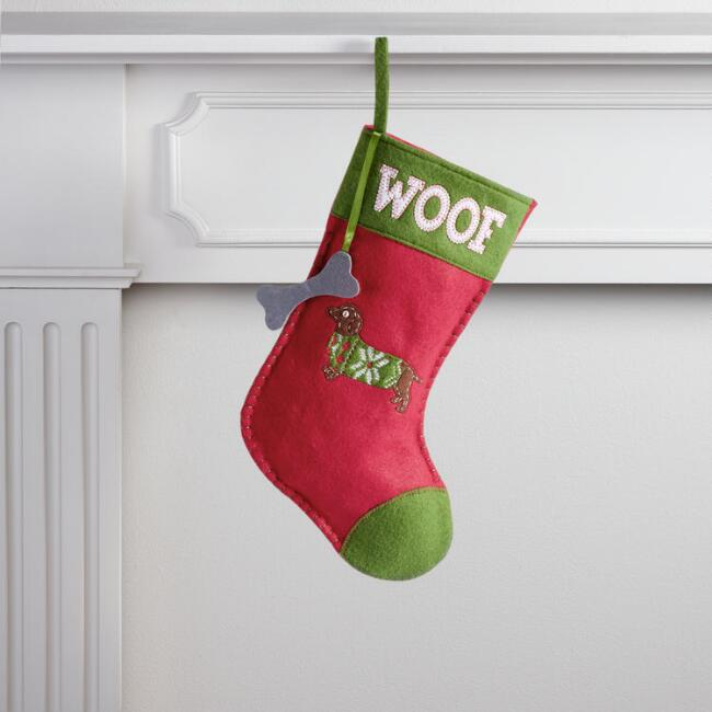 Red Dachshund Pet Stocking