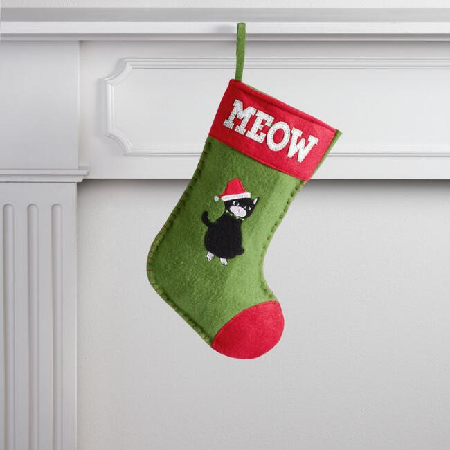 Red Santa Cat Pet Stocking