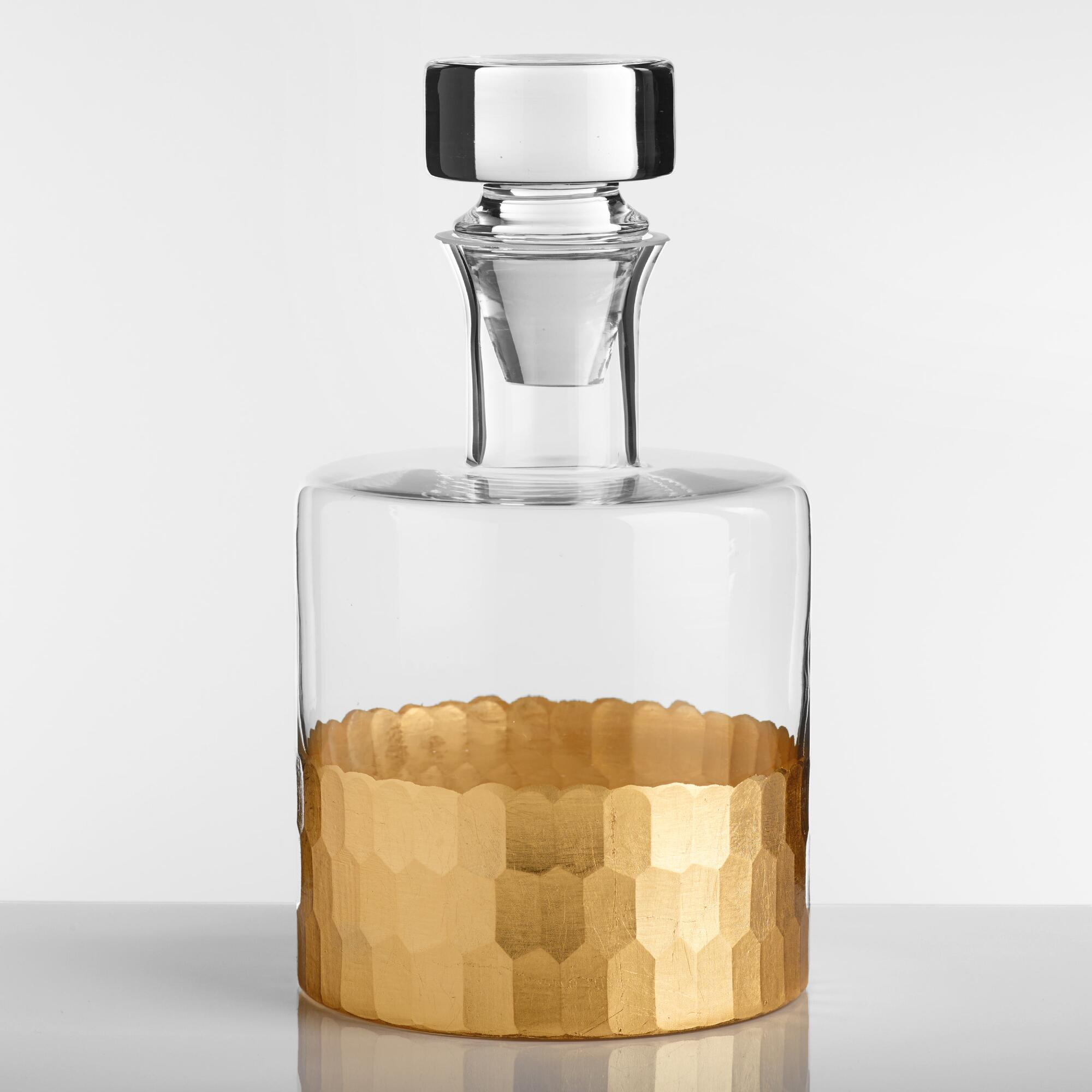 Gold Faceted Decanter by World Market