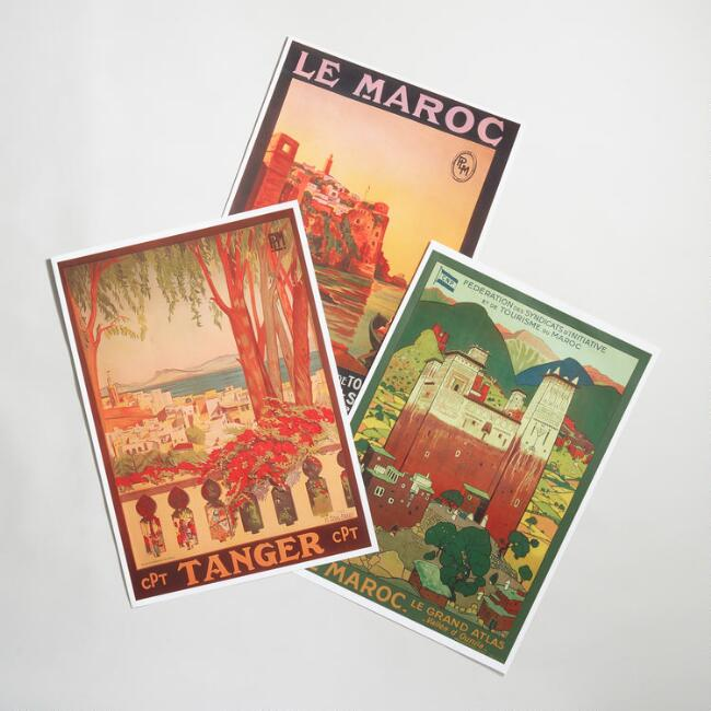 Vintage Moroccan Travel Poster Collection