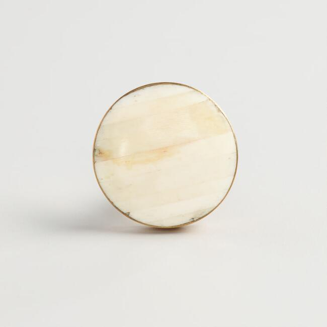 Ivory Resin Knobs Set of 2