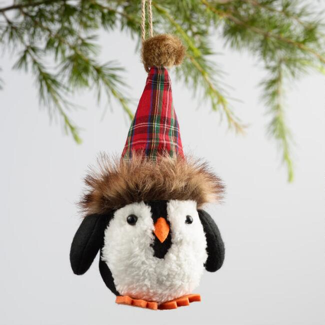 Fabric Penguin Ornaments Set of 2