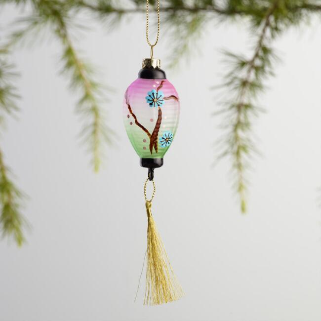 Mini Glass Lantern Ornaments