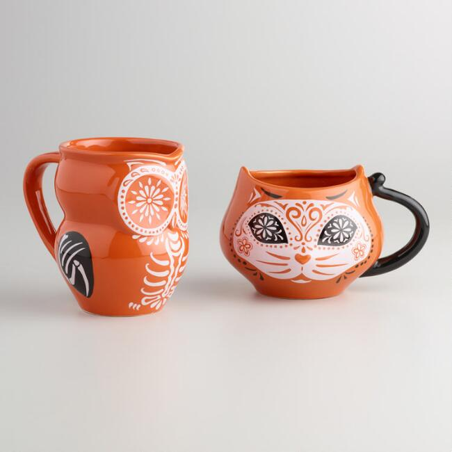 Los Muertos Animal Mugs Set of 4