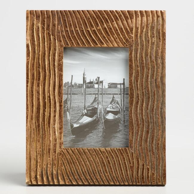 Bronze Foil Wood Frame