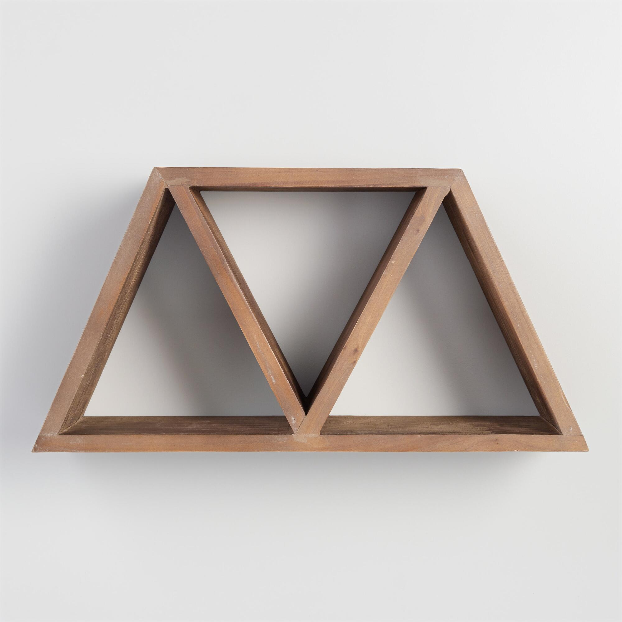 Wall shelves storage and racks world market geometric wood wall storage amipublicfo Gallery