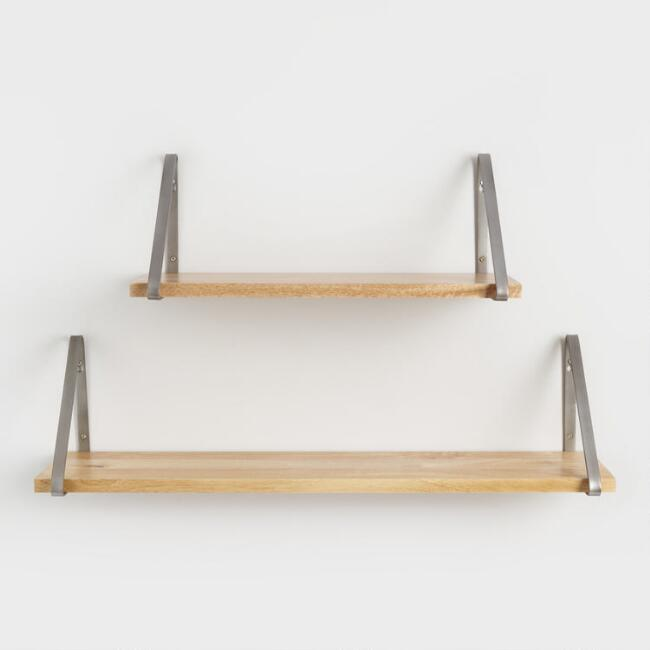 Natural Wood Mix & Match Wall Shelf Collection