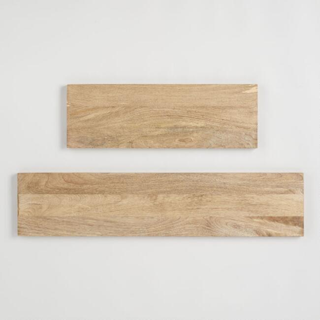Natural Wood Mix & Match Wall Shelves