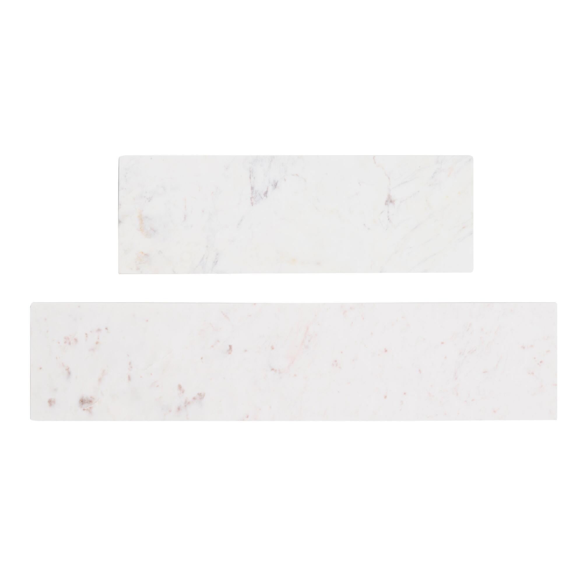 White Marble Mix & Match Wall Shelves - 3Ft by World Market 3Ft