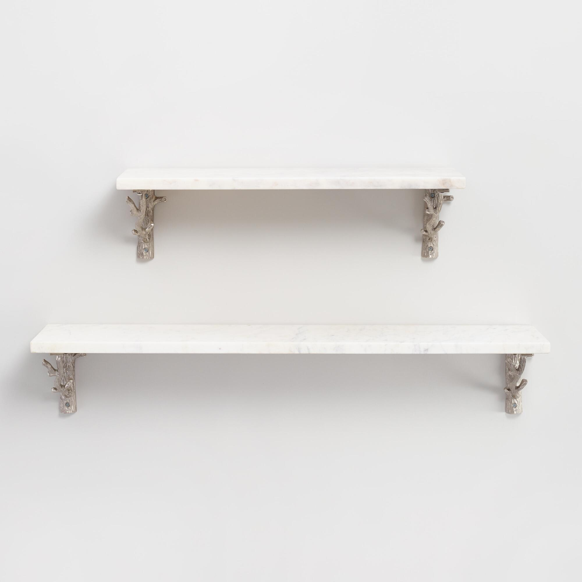 Wall shelves storage and racks world market marble mix match wall shelf collection amipublicfo Images
