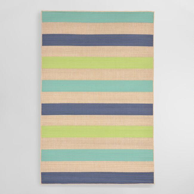 Cool Stripe Playa Indoor Outdoor Area Rug
