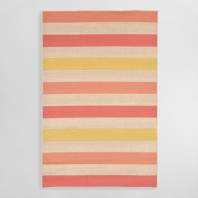 Warm Stripe Playa Indoor Outdoor Area Rug