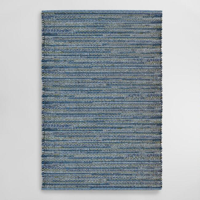 Blue Sahara Plains Indoor Outdoor Area Rug