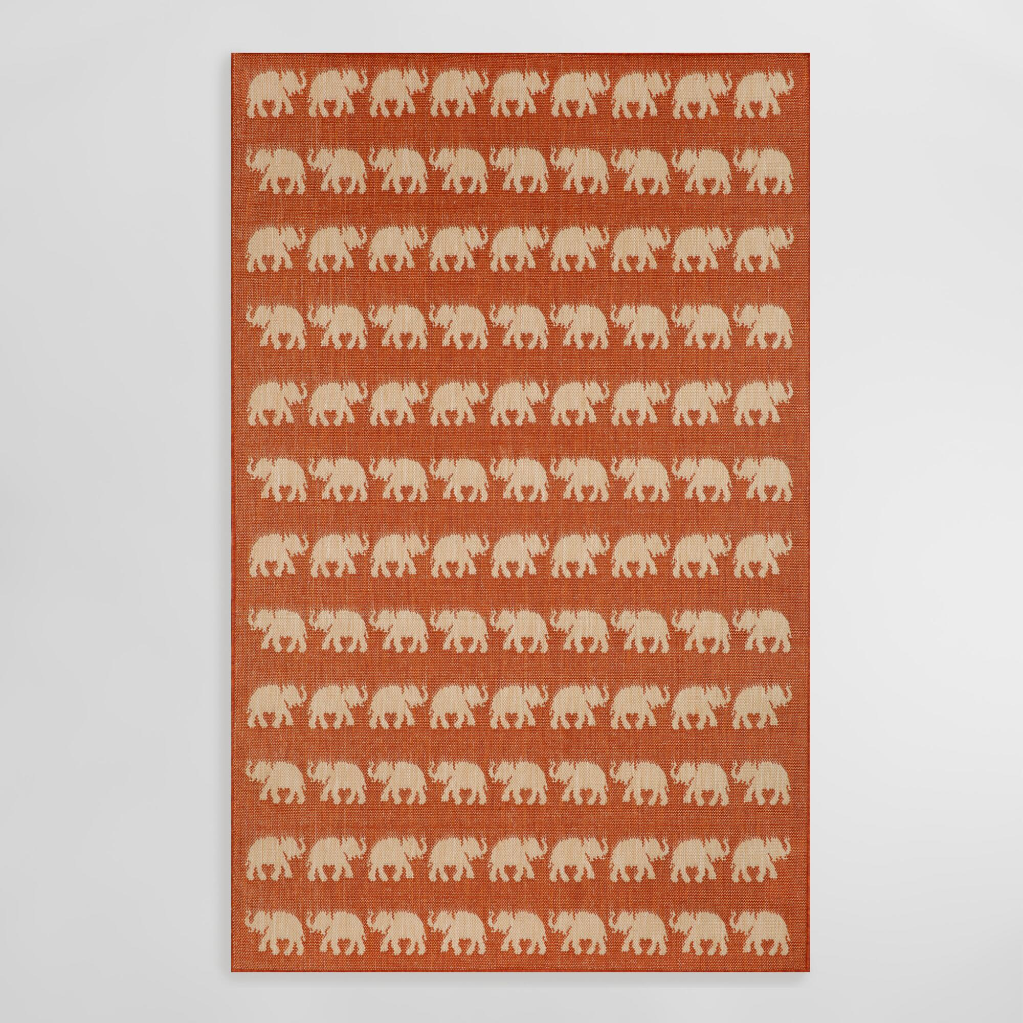 shag elephant rose patch pink contemporary cream color area product rug
