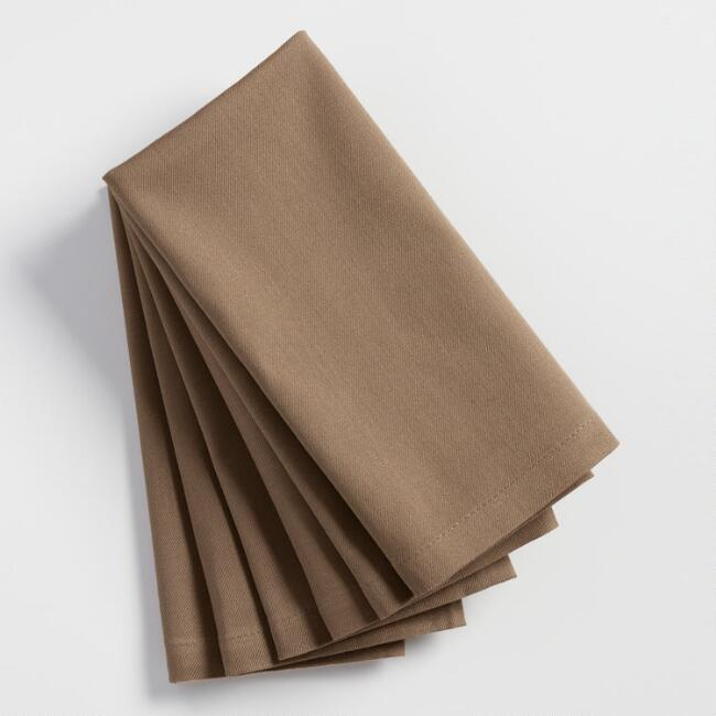 Taupe Buffet Napkins Set of 6