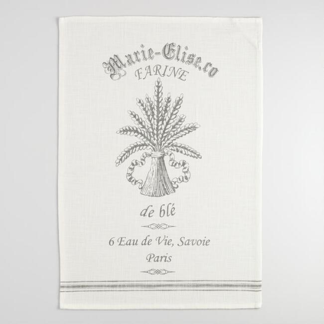 Grain Bouquet Farmhouse Kitchen Towel