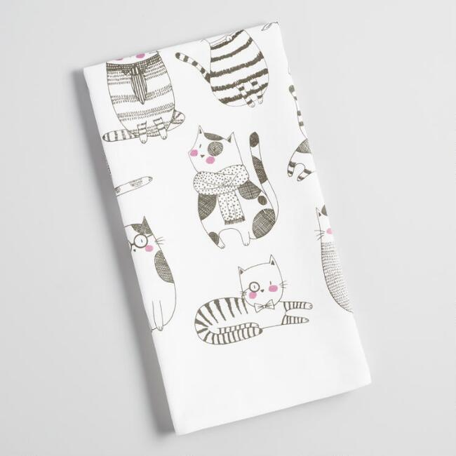 French Cats Kitchen Towel