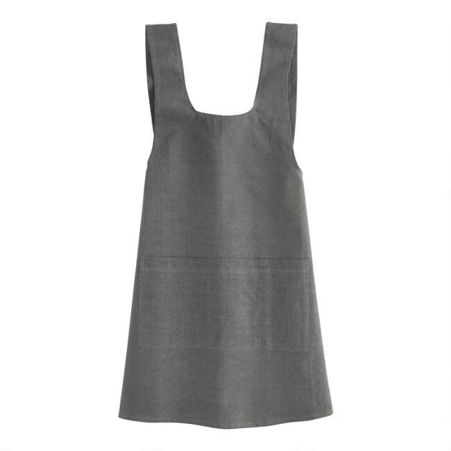 Gray Washed Cotton Smock
