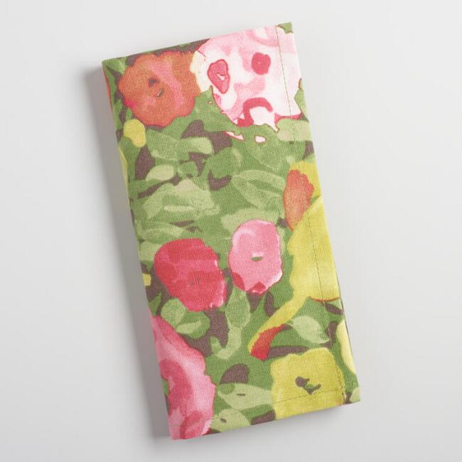 Watercolor Corinne Floral Napkins Set of 4