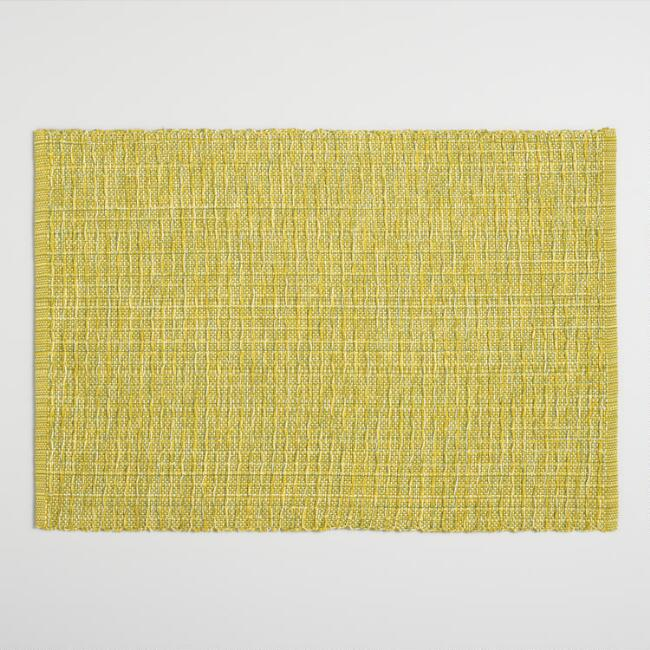 Green Stripe Woven Placemats Set of 4