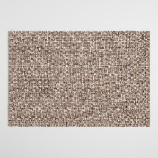 Brown Stripe Woven Placemats Set of 4