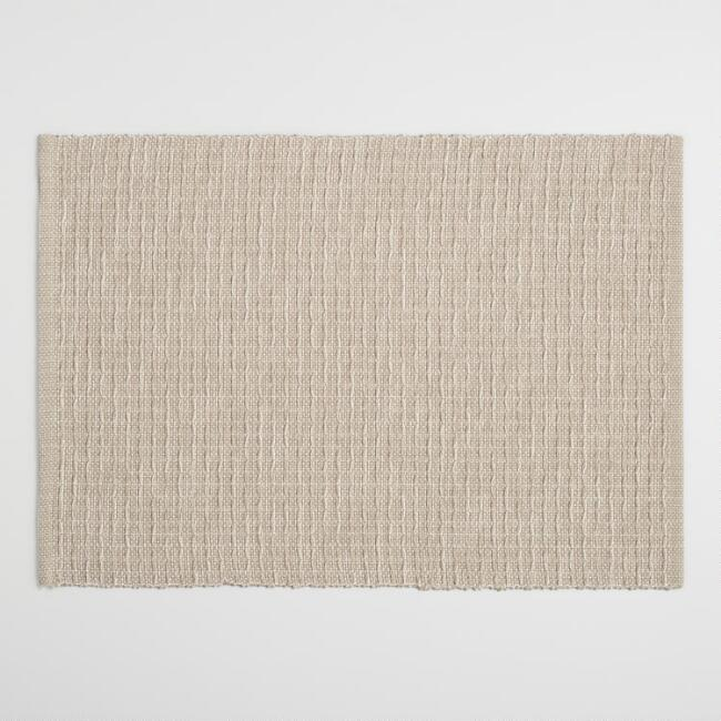 Light Taupe Stripe Woven Placemats Set of 4