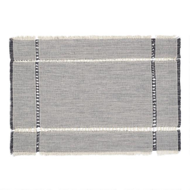 Gray Melange Khadi Placemats Set of 4