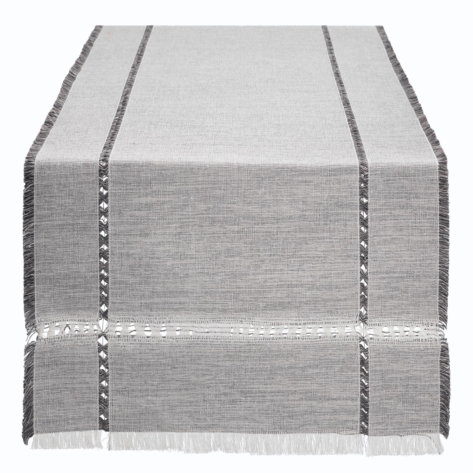 Oversized Gray Melange Khadi Table Runner - Cotton by World Market