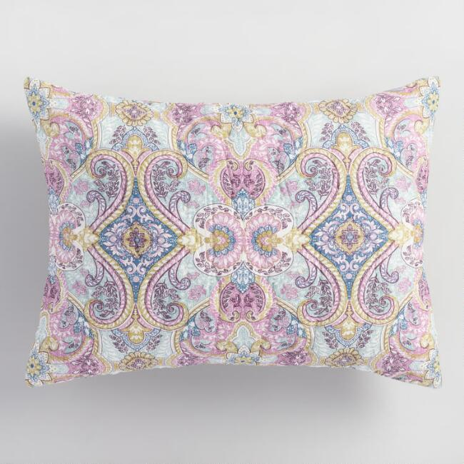 Lavender and Blue Ogee Estelle Pillow Shams Set of 2