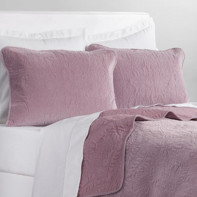 Lavender Velvet Bedding Collection