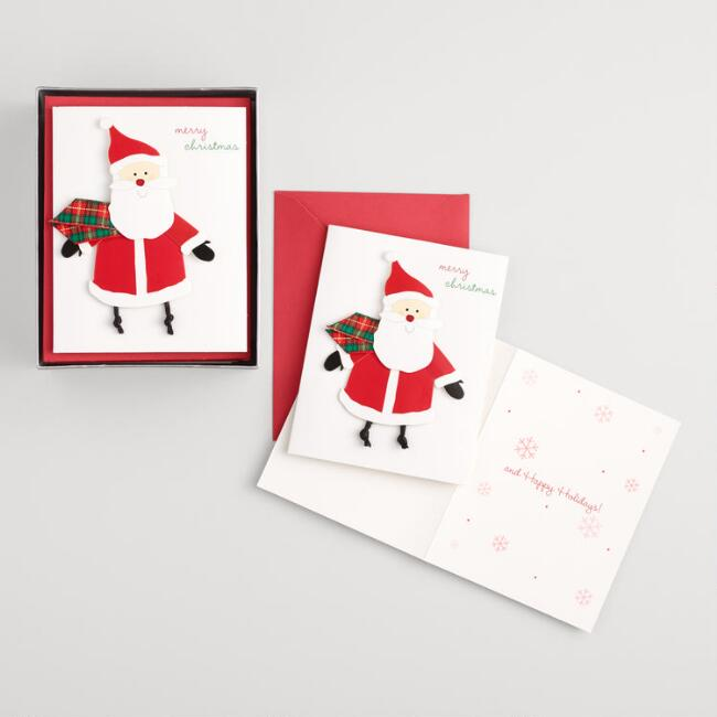 Santa Claus with Scarf Boxed Holiday Cards Set of 15