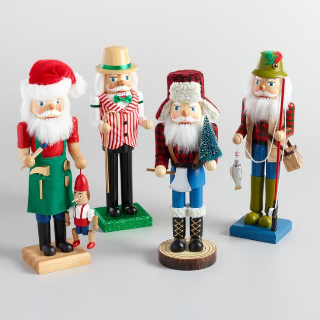 Santa Nutcrackers Set of 4