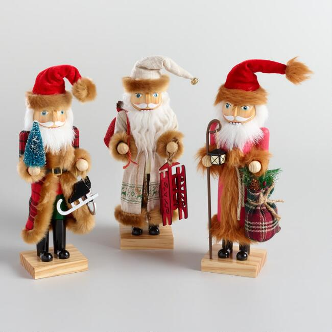 Woodland Santa Nutcrackers