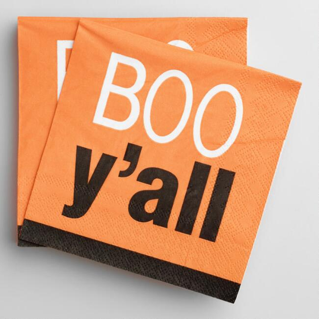 Boo Y'all Beverage Napkins 20 Count