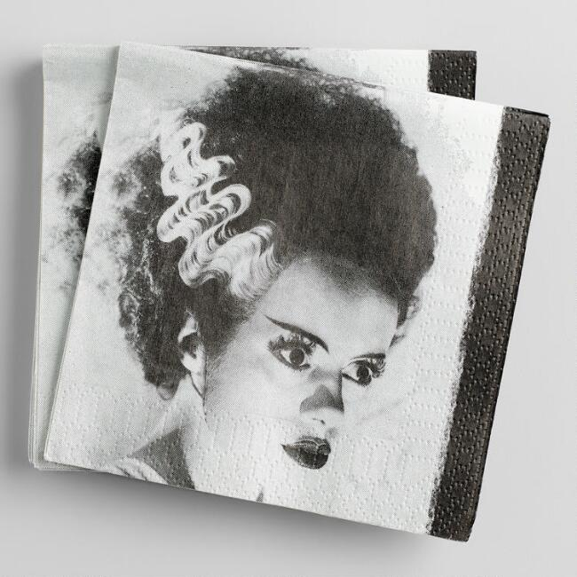 Bride of Frankenstein Beverage Napkins 20 Count