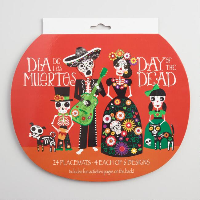 Day of the Dead Placemats 24 Pack