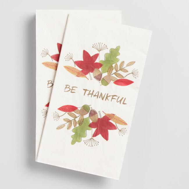 Be Thankful Guest Napkin 20 Count