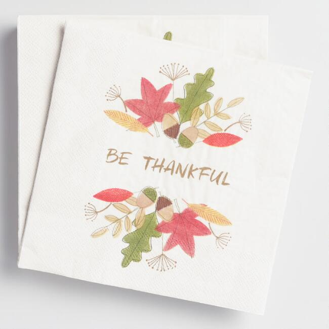 Be Thankful Lunch Napkin 20 Count